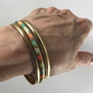 Jewelry - Three vintage brass bangle bracelets